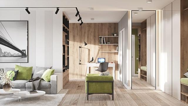 Дизайн интерьера квартиры 56 м2 в Актау. Современный стиль